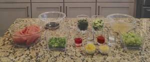 Very colorful ingredients!