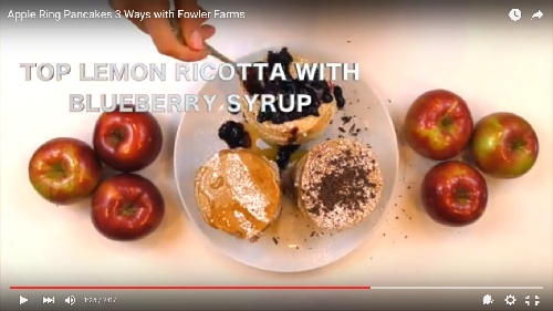 Apple Ring Pancakes 3 Ways with Fowler Farms