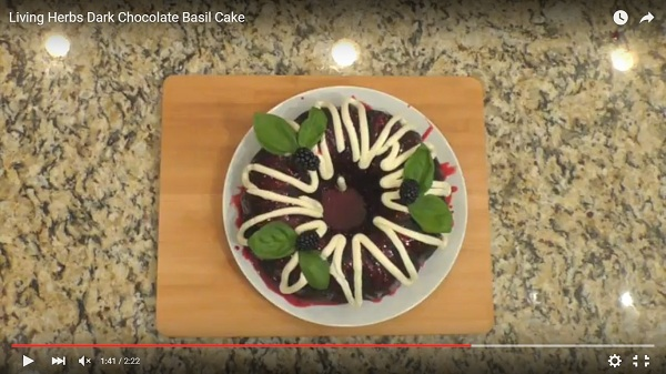 Living Herbs Dark Chocolate Basil Cake