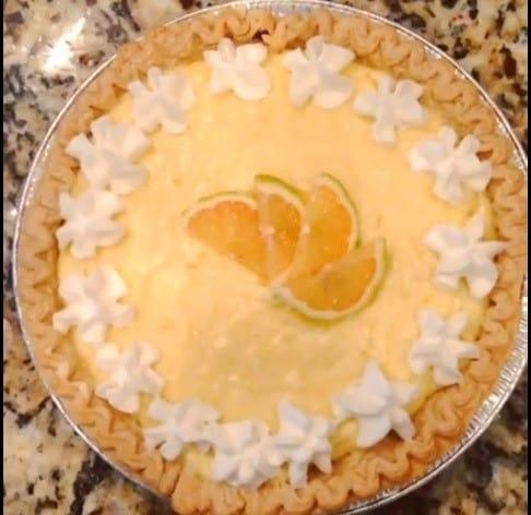 Limoneria Pink Lemon Sour Cream Pie