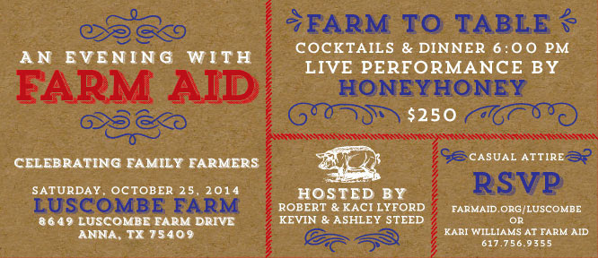 Event! An Evening with Farm Aid - in TEXAS!