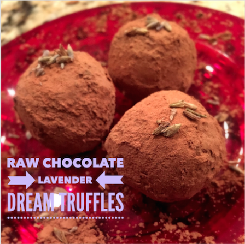 Raw Chocolate Lavender Dream Truffles