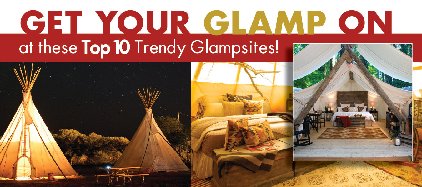 Get your GLAMP on! Top 10 Trendy