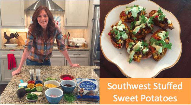 Southwest Stuffed Nash's Sweet Potatoes