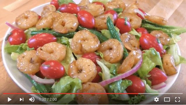 NatureSweet®  Cherubs®  Firecracker Salad with Spicy Sauteed Shrimp
