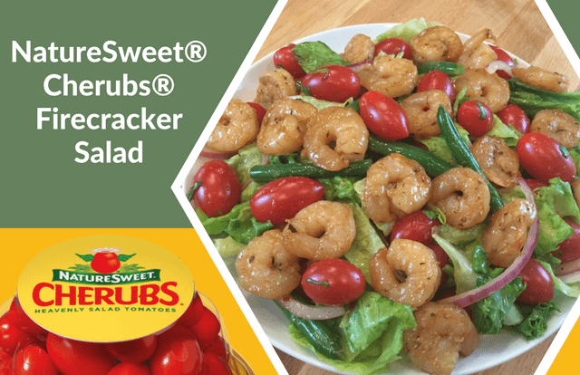 NatureSweet® Cherubs® Firecracker Salad with Spicy Sauteed Shrimp