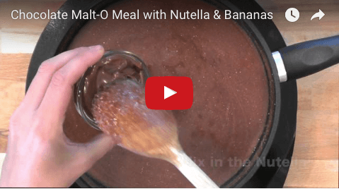 Chocolate Malt-O-Meal with Nutella & Bananas