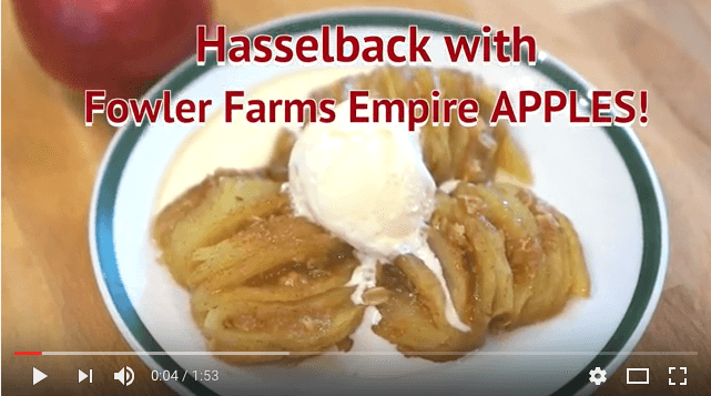 Hasselback Apples ALA Mode featuring Fowler Farms Empire Apples