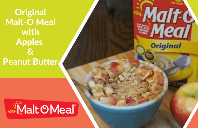 Original Malt-O Meal with Apples and Peanut Butter