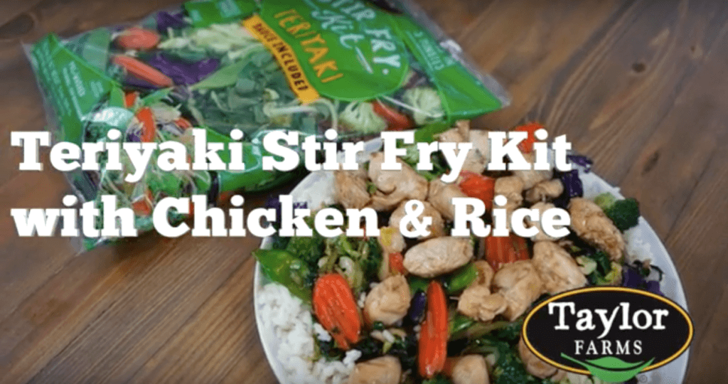 Taylor Farms Teriyaki Stir Fry Kit with Chicken & Rice