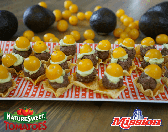 Super Bowl Burger Nachos with NatureSweet® & Mission Produce