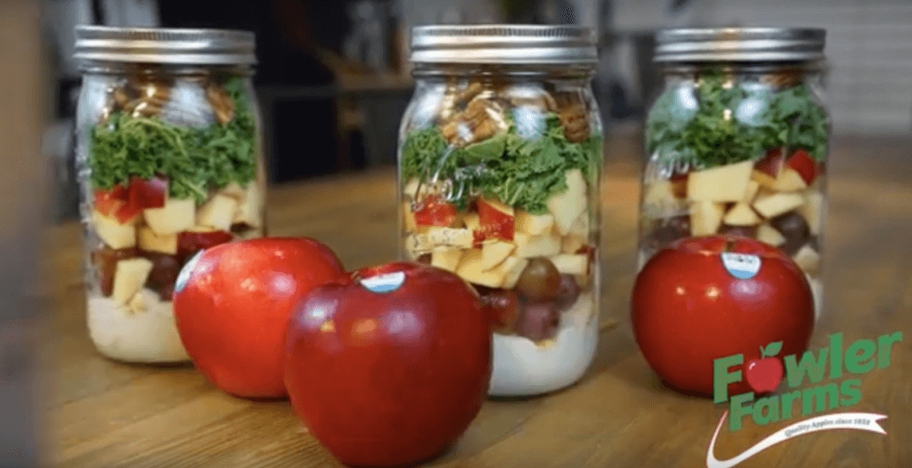 Mason Jar Salads with Ruby Frost Apples