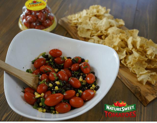 NatureSweet® Cherubs® Tomato, Black Bean, & Corn Salad
