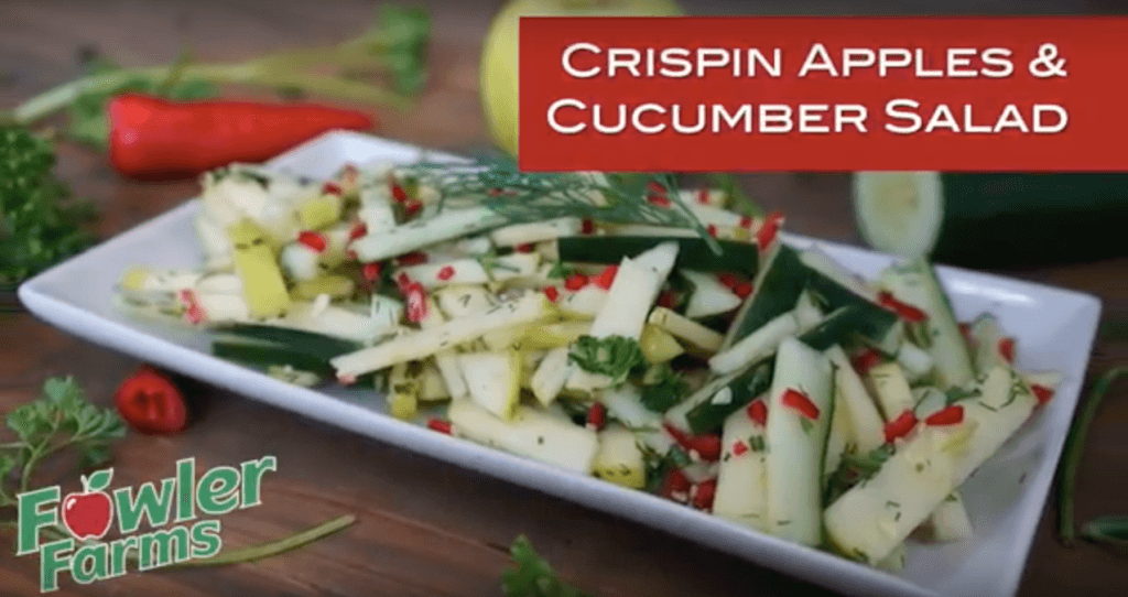 Fowler Farms Crispin Apple & Cucumber Salad