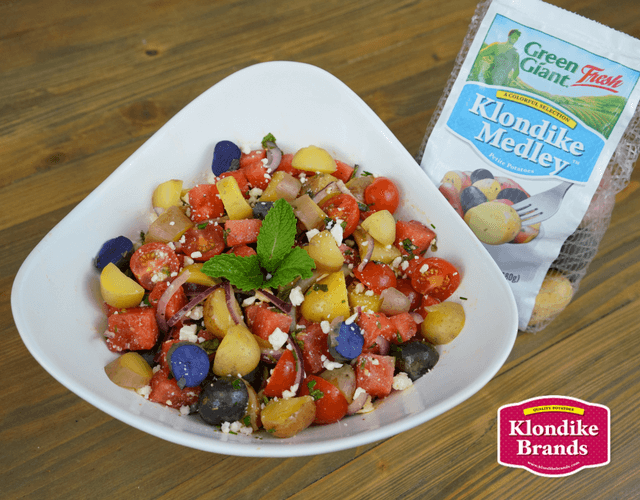 Chilled Watermelon & Klondike Gourmet Potato Salad