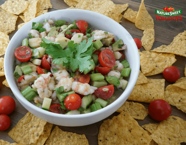 Shrimp Ceviche with NatureSweet® Glorys®