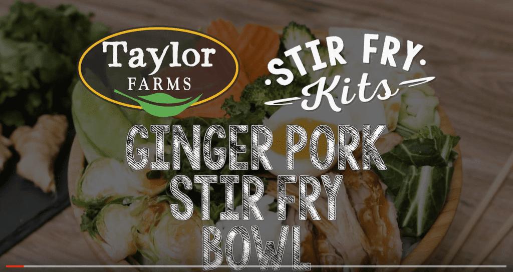 Ginger Pork Stir Fry Bowl