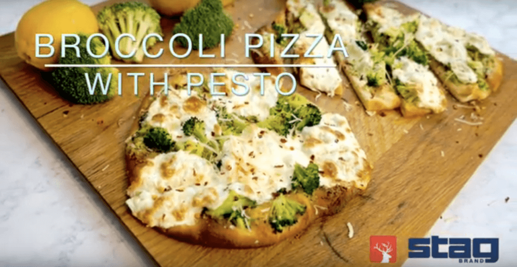 Smiths Farm Broccoli Pesto Pizza