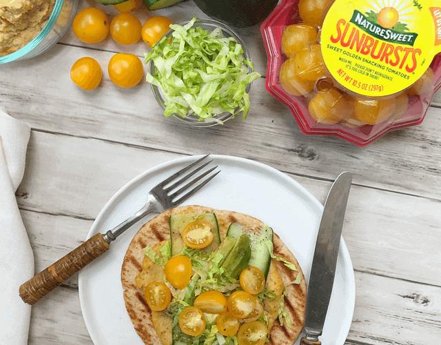 Roasted SunBursts® Tomato Hummus Wrap