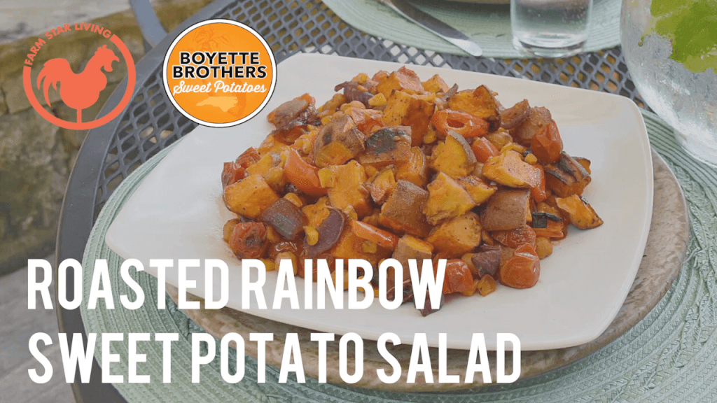 Roasted Rainbow Sweet Potato Salad