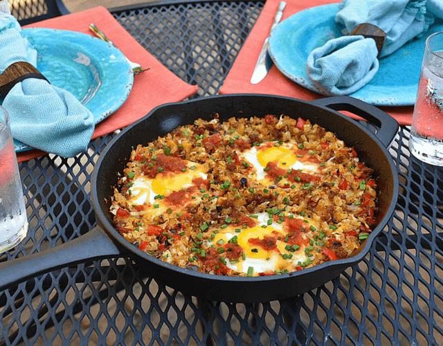 Cauliflower Rice Breakfast Skillet