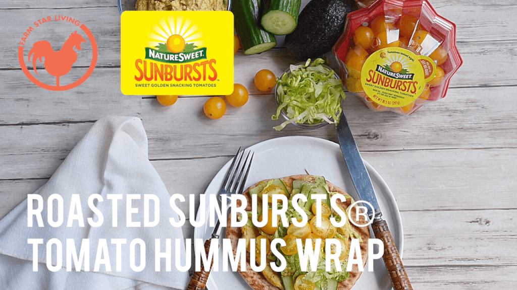 Roasted SunBursts Tomato Hummus Wrap