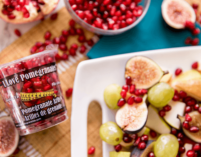 Fall Fruit Platter with Pomegranate Arils