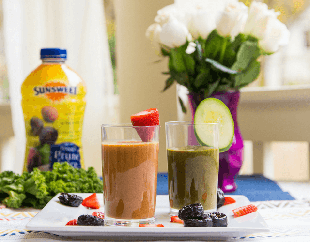 Amaz!n Prune Juice Smoothies - Two Ways!