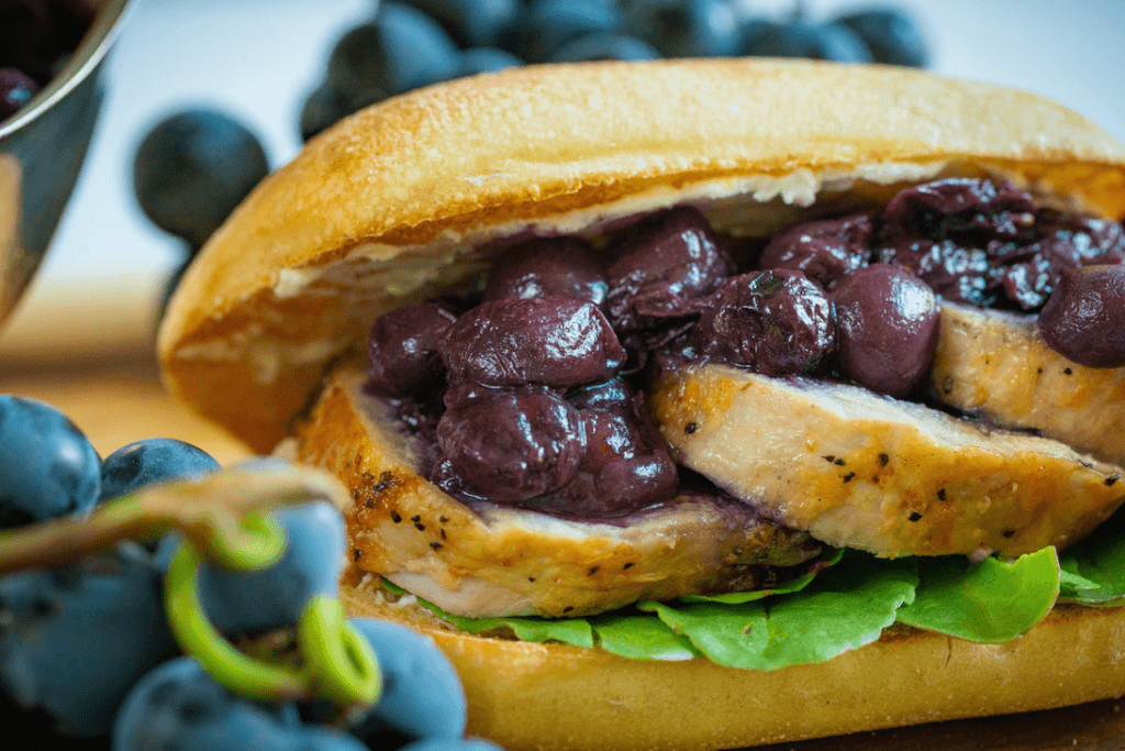Pork Sammies with Grape Jammers® Coulis
