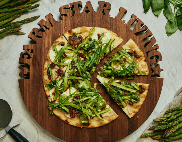 Grilled Pizza with Shaved Asparagus