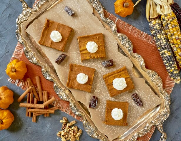 Sunsweet Date Pumpkin Pie Bars