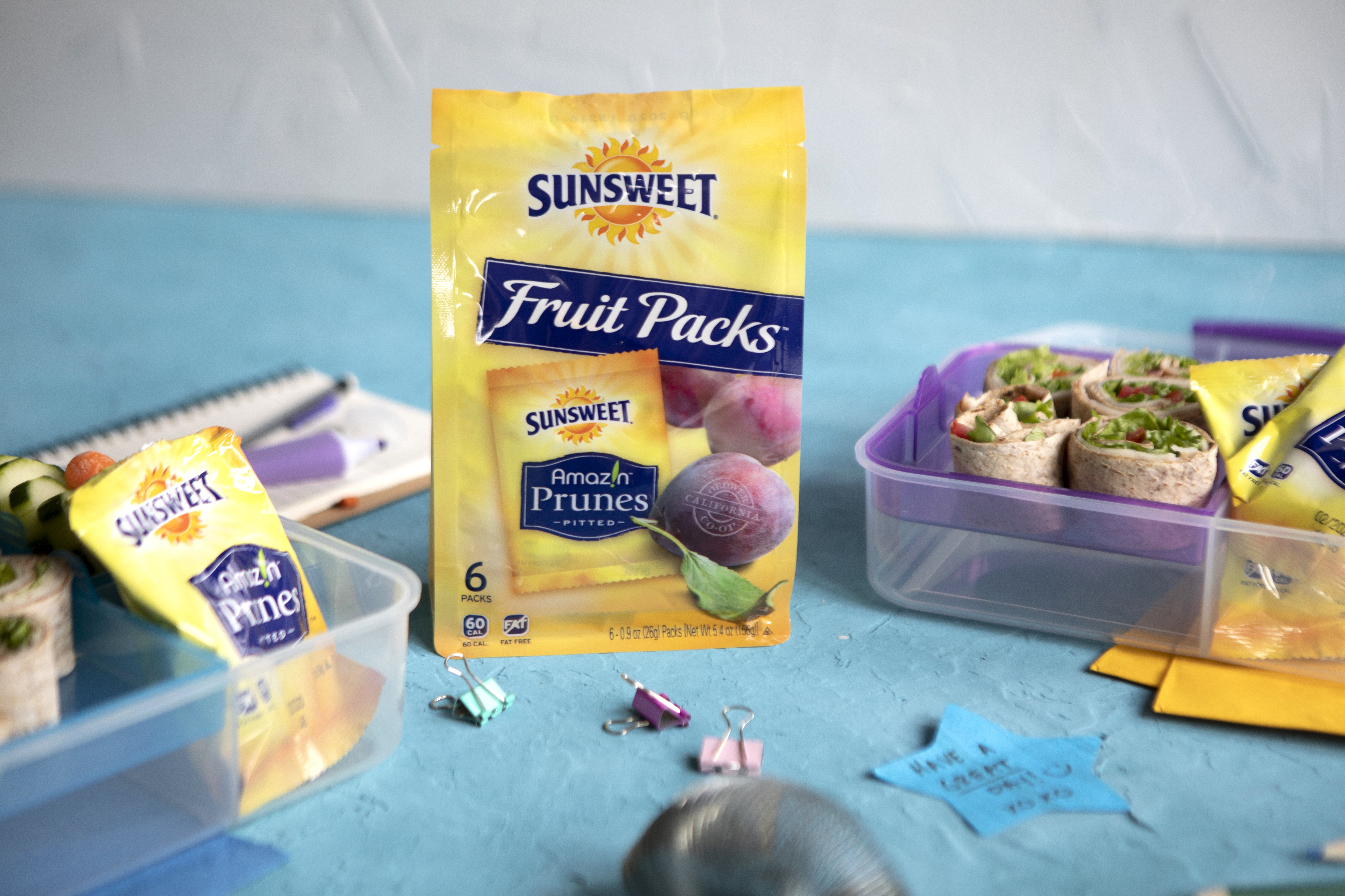 Back-to-School Lunchbox with Amaz!n Prune Fruit Snacks
