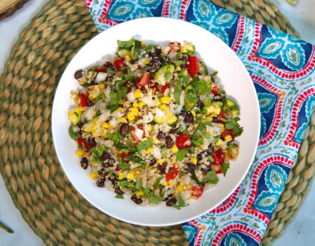 Quinoa & White Onion Fiesta Salad
