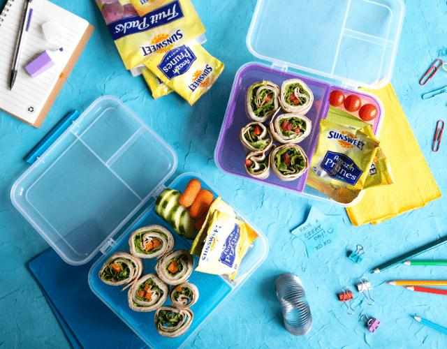 Lunchbox Ideas with Sunsweet® Amaz!n Prune Fruit Packs