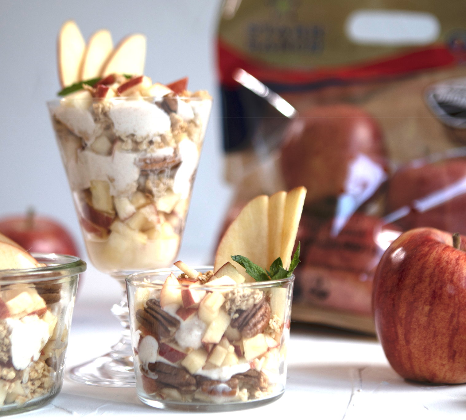 Gala Apple Cinnamon Yogurt Parfait