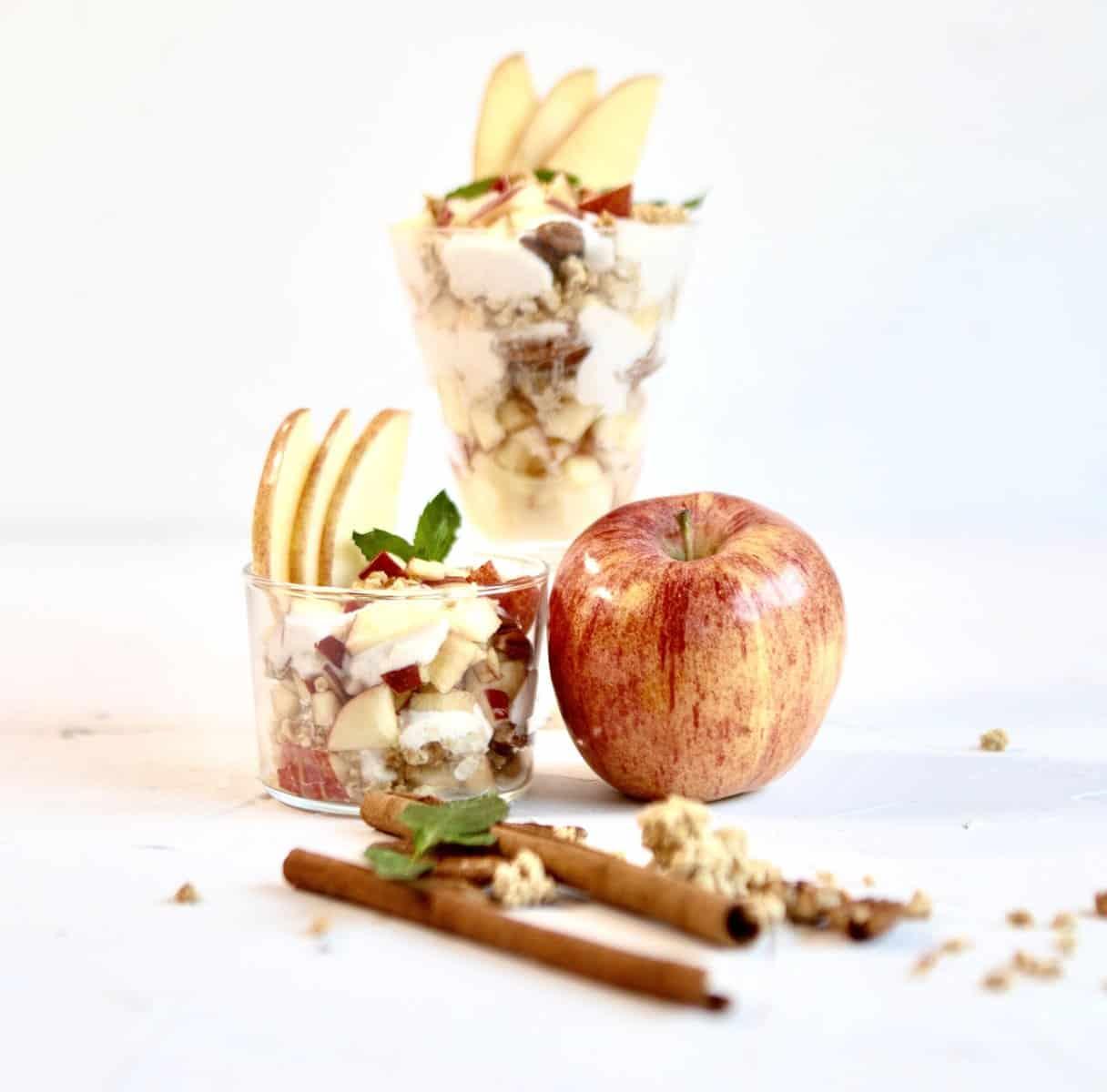 Gala Apple Cinnamon Yogurt Parfait