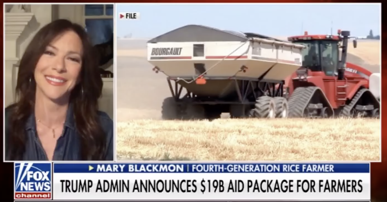 FOX & FRIENDS: Mary Blackmon & the $19B Aid Package for Farmers