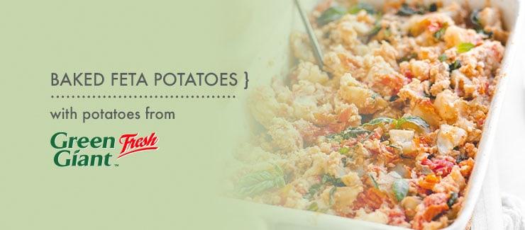Baked Feta Potatoes