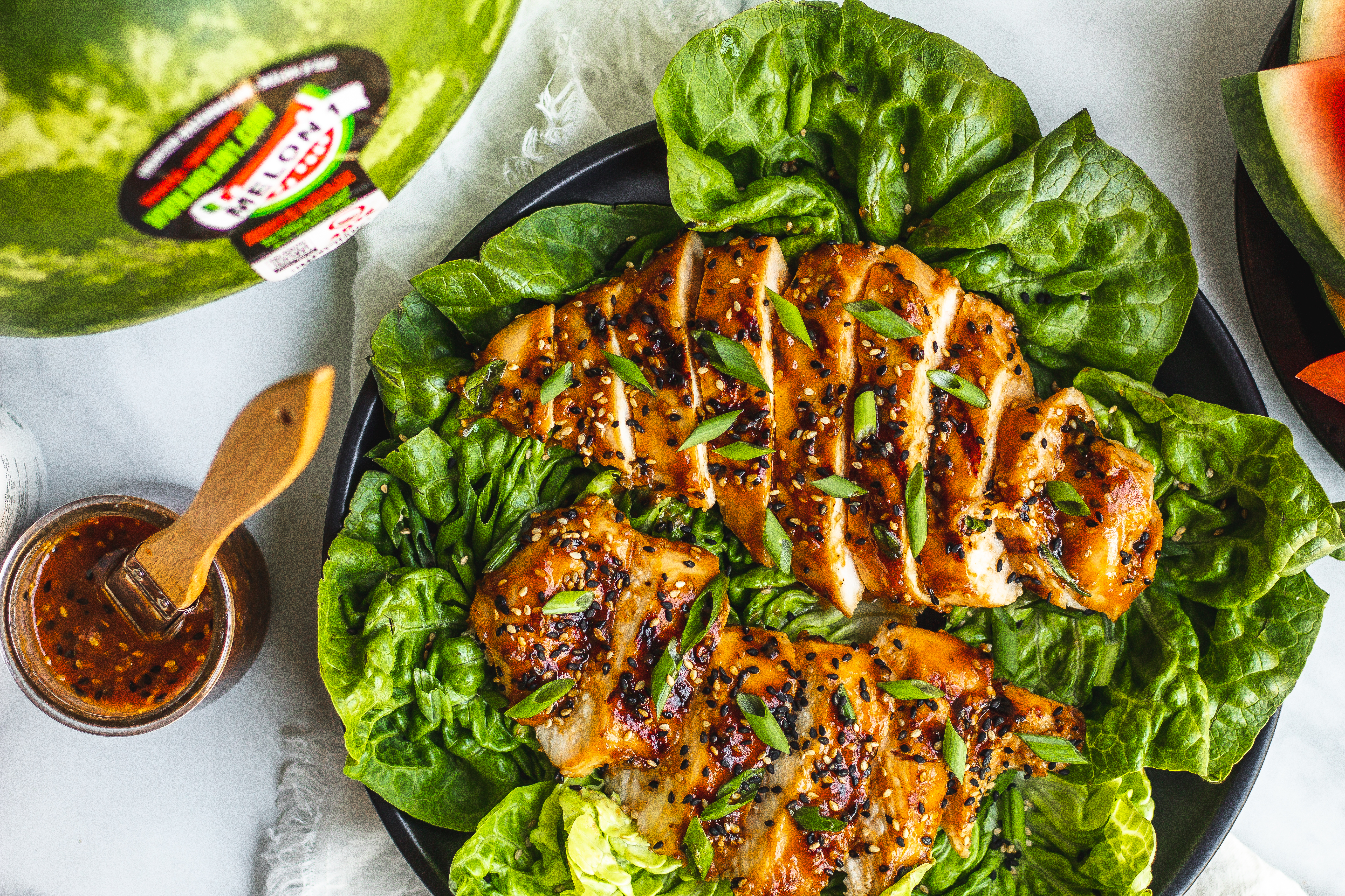 Watermelon Teriyaki Grilled Chicken