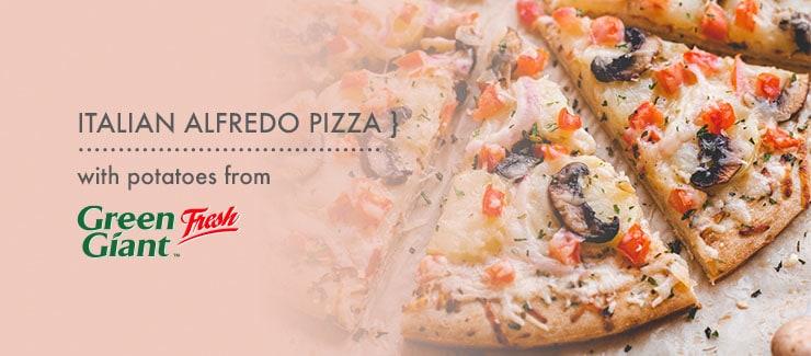 Italian Alfredo Potato Pizza