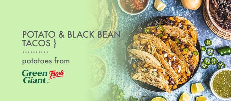 Potato & Black Bean Tacos